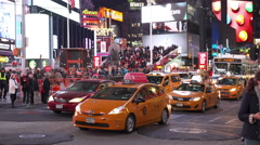 City traffic in downtown New York City Times Square 4k Stock Footage
