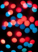 Defocused christmas lights. New Year bokeh. Abstract background - stock photo