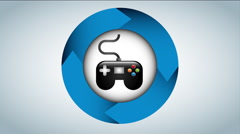 Gamepad icon design, Video Animation - stock footage
