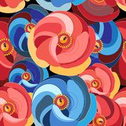 flower with multicolored petals - stock illustration