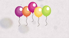 Balloon icon  design, Video Animation Stock Footage