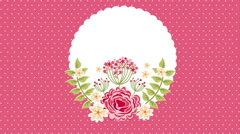 Beautiful flower design, Video Animation Stock Footage