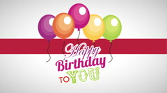 happy birthday card design - stock footage