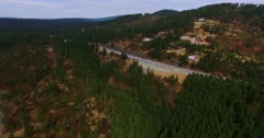 Zoom in Vancouver Island Freeway Stock Footage