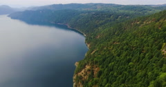 Wide River Pan Stock Footage