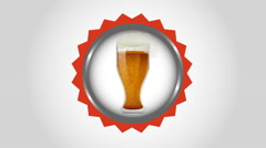 Cold beer design, Video Animation Stock Footage