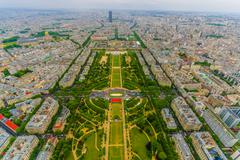 Stock Photo of Beautiful view of fields in Champ de Mars, Paris