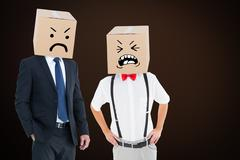 Stock Photo of Composite image of anonymous businessman