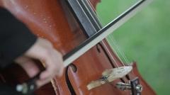 Women Plays Cello Stock Footage