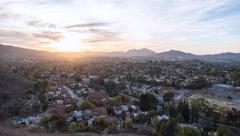 Thousand Oaks California Sunset Time Lapse Stock Footage