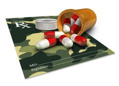 Military Medicine - stock illustration