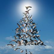 Holiday Tree Of Hope - stock illustration