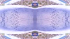 Aqua Abstract Urban  Kaleidoscope Stock Footage