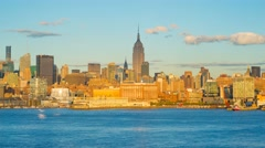 USA, New York, Manhattan, Empire State Buiding TIMELAPSE Day to Night - stock footage