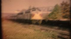 Vintage 8mm Diesel Railroad trains Stock Footage