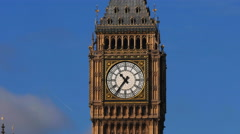 extreme close up of the clock face of big ben, london - stock footage