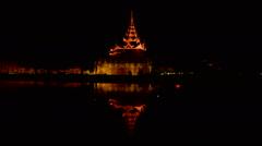 Enlightened pagode in Mandalay Myanmar Stock Footage