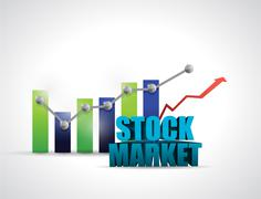 stock market and business graph illustration - stock illustration