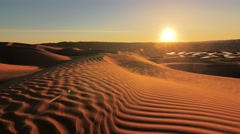 Sahara desert landscape. Ain Ouadette oasis. Stock Footage