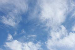 High white clouds - stock photo
