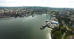 Sunny Day in Victoria Bay Stock Footage