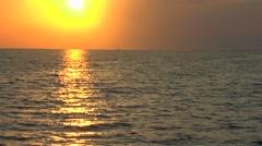 Caribbean Sea Sunset near Cayo Largo Stock Footage