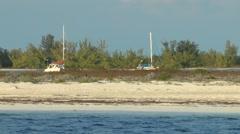 Sandy beach of Cayo Largo del Sur Stock Footage