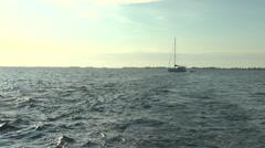 Clear Water of Caribbean Sea near Cayo Largo Stock Footage