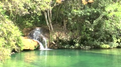 Waterfalls in Topes de Collantes Stock Footage