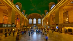 USA, New York, Manhattan, Grand Central Station, Main Concourse, TIMELAPSE - stock footage