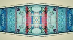 Ghetto  Kaleidoscope VJ background - stock footage
