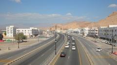 City highway in Nizwa, Oman - stock footage