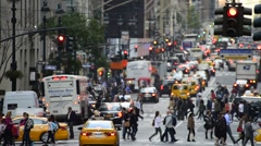 USA, new York, Manhattan, Sixth Avenue, Avenue of the Americas Stock Footage