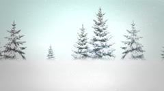 A snowy North Pole clip for placement of copy - stock footage
