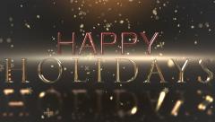 Happy Holidays celebration clip Stock Footage