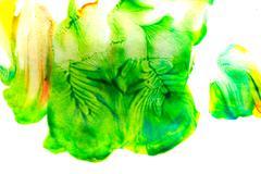 Abstract oil color. Green Stock Photos