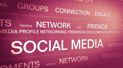 Social media networking_connection backgorund 4K Red Stock Footage