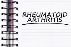 rheumatoid arthritis words on spring note book - stock photo