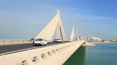 Bridge in Manama, Bahrain Stock Footage