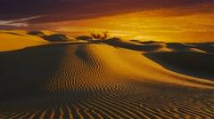 Wonderful Sahara desert landscape. Dunes at sunset. Stock Footage