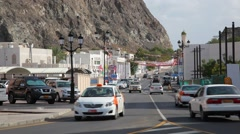 Street in the old town of Muscat Stock Footage