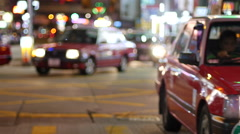 Taxis in Hong Kong Stock Footage