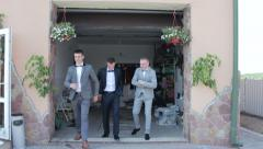 The groom and his friends - stock footage