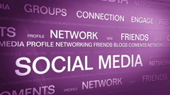 Social media networking_connection backgorund 4K Purple Stock Footage
