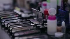 Professional cosmetics make-up. NTSC - stock footage