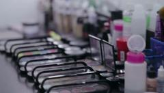 Professional cosmetics make-up artist.NTSC Stock Footage