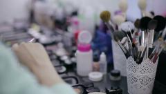 Professional beautician working. NTSC - stock footage
