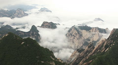 Time Lapse Highest Point Huashan Mountains - stock footage