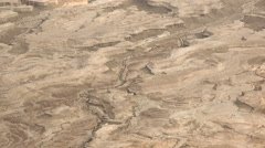Barren desert landscape in Dead Sea region - Israel, Masada, Stock Footage