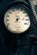 steam pressure guage - stock photo